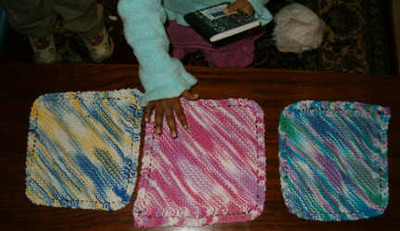 dishcloths with Zidy hand
